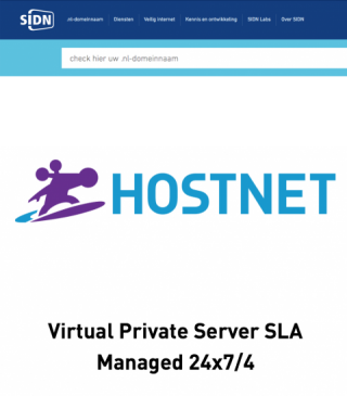 Plaatje SLA Hostnet die DFG Websolutions heeft afgesloten